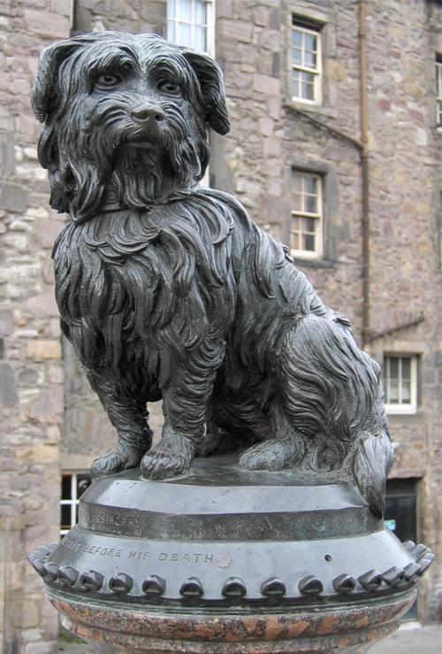 the statue of Greyfriars Bobby in Edinburgh