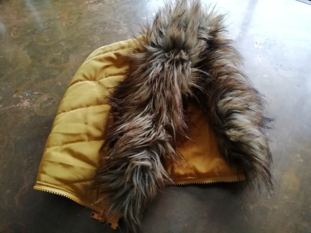 Detachable hood from my winter coat.