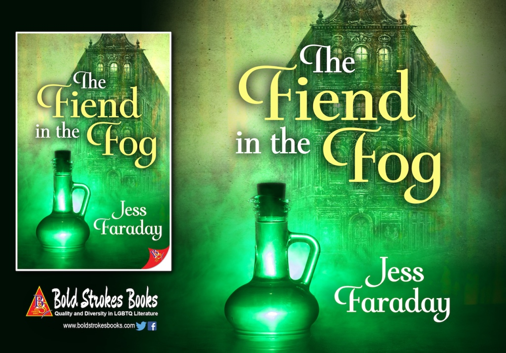 Book cover for The Fiend in the Fog by Jess Faraday.